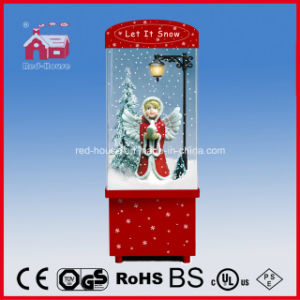 Angel Doll Inside Christmas Snowing Decoration with Music
