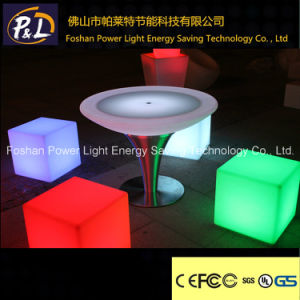 Outdoor&Indoor Illuminated Furniture Color Changing Plastic LED Dining Table pictures & photos