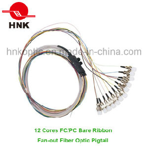 12 Cores FC PC Singlemode Ribbon Fan-out Fiber Optic Pigtail pictures & photos