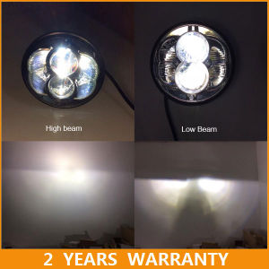 Motorcycle 5 3/4 Round LED Headlight for 5.75inch Harley Headlamp DOT E-MARK Approved pictures & photos