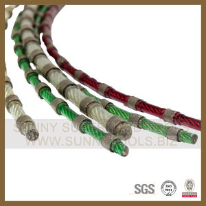 Rubber Coating with Sintered Beads Diamond Wire Saw pictures & photos