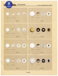 Four Combined Buttons for Clothing/Garment/Shoes/Bag/Case pictures & photos