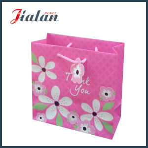 """Customize """"Thank You"""" Flowers Paper Printed Shopping Gift Paper Bag pictures & photos"""