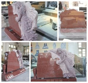 Red Granite Angel Monument/Headstone Price pictures & photos