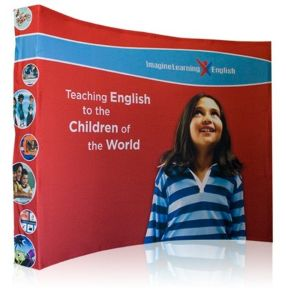 10FT Curved Fabric Pop-up Velcro Banner Stand (quick installing type) pictures & photos