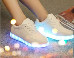 Fashion 8 Color LED Shoes with USB Recharge and Cheaper Price pictures & photos