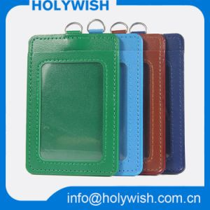 Custom Eco-Friendly PU ID Card Holder with Strap pictures & photos