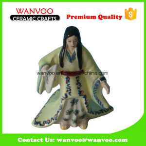 Ancient Woman Dancer Ceramic Sculpture with Folding Fan pictures & photos