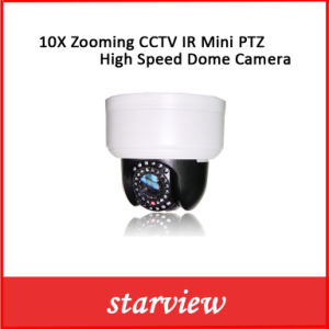 10X Zooming CCTV IR Mini PTZ High Speed Dome Camera pictures & photos