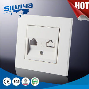 2 Gang Computer and Tel Wall Socket pictures & photos