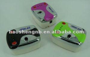 HS08-3AC-Skc Dual-Action Gun Airbrush Kit Air Compressor Tattoo Nail Art Paint Hobby Cake Set pictures & photos