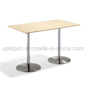 Commercial Rectangle High Bar Table with Double Stainless Steel Legs (SP-BT665) pictures & photos