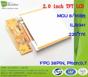 "2.0"" 220*176 MCU 8/16bit 38pin Wide Viewing Angle TFT LCD Display pictures & photos"