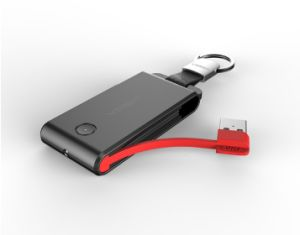 Car Key Chain Flashlight Power Bank 1500mAh pictures & photos