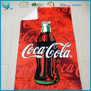 China Supplier 100% Cotton Velour Printed Custom Logo Towel pictures & photos