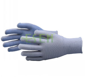 2017 Professional 13 Pins Work Gloves with PVC Dotted Assembly Work Gloves pictures & photos