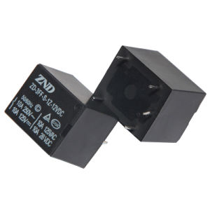 3FF (T73) 10A 12V Miniature Power Relay Black Cover Electromagnetic Relay pictures & photos