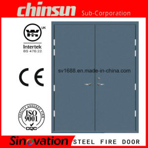 High Quality 90 Minutes Double Steel Fire Door pictures & photos