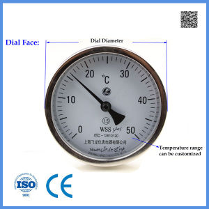 High Temperature Thermometer Wss-401 Industria Bimetal Thermometer Analog pictures & photos