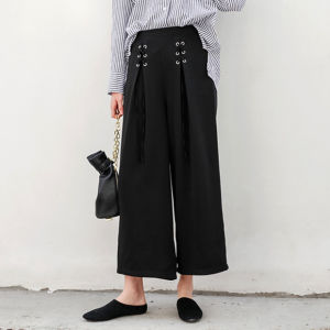 Ladies Fashion Loose Wide-Legged Bandage Preppy Style Pants pictures & photos