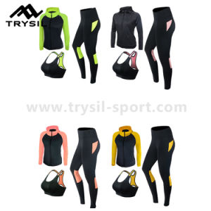 Sportswear Sets Fitness Clothing Sets Gym Running Garments Set for Women pictures & photos