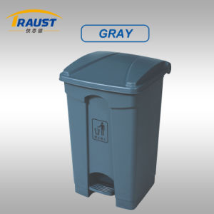 68L Large Outdoor Plastic Dustbin with Pedal pictures & photos
