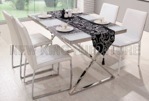 Best Price Tempered White Glass Dining Table (NK-DTB087) pictures & photos