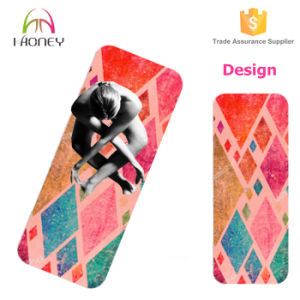 OEM 72′′*24′′ Rubber Yoga Mat with Geometry Design pictures & photos