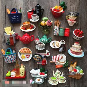 Custom Whosale Delicious Food Shape 3D Resin Fridge Magnets pictures & photos