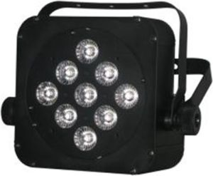 9*15W RGBWA 5in1 Multi-Color LED Plat PAR Light with Battery 5-6hours pictures & photos