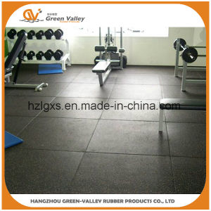 En71 Approved Anti-Slip Rubber Floor Tile Mat for Gym pictures & photos