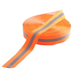 Permanent Flame-Retardant Warning Reflective Tape, Orange with Four Certificates, 400 Microns pictures & photos