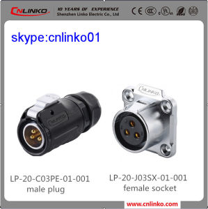 LED Lighting Outdoor Male Female Connector Waterproof Plug pictures & photos