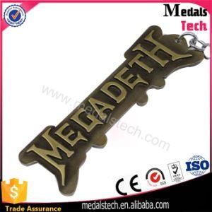 Antique Bronze 3D Raised Letter Shape Metal Keychain for Boy pictures & photos