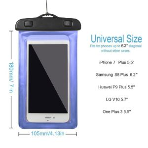 Universal Plastic Waterproof PVC Phone Pouch Waterproof Phone Bag with Lanyard pictures & photos