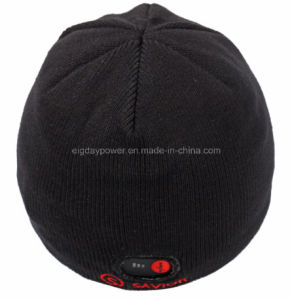 Knitted Cap For Rchargeable Battery Heating In Winter Black pictures & photos