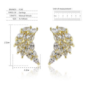 Korean Zirconia Gold Plated Most Popular Stud Earrings 2016 pictures & photos