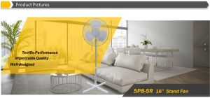 """Hot Sale 16"""" Oscillating Stand Fan with Cross Base, Pedestal Fan pictures & photos"""