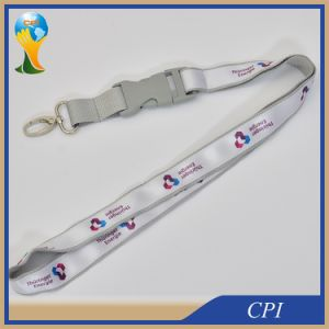 Custom Logo Satin Lanyards with Plastic Buckle pictures & photos