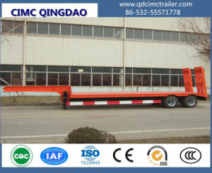 2 Axle Gooseneck Lowbody Lowloader Lowbed Semi Truck Trailer pictures & photos