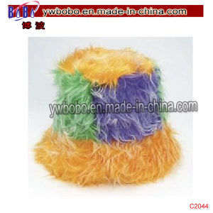 China Yiwu Mardi Gras Furry Hat Promotional Hat Headwear (C2044) pictures & photos