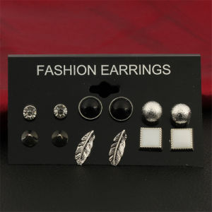 Costume Jewelry -Vintage Brincos Crystal Stud Earrings Set for Woman Jewelry pictures & photos