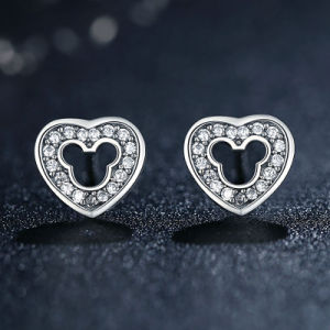 Heart Simple Design 925 Sterling Silver Earring Cubic Zirconia Stone jewelry pictures & photos