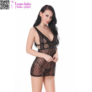 Empire Waist Mesh Sexy Lingerie Underwear L28045-1 pictures & photos