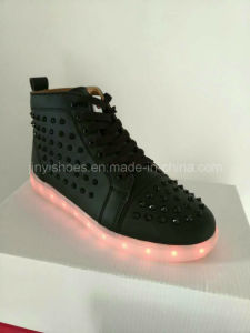2016 Hot Sale Casual LED Shoes Breathable Woman Casual Shoes Light Lace up pictures & photos