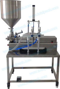 Semi-Automatic Two Nozzles Filling Machine with Work Table for Ketchup (FLC-250S) pictures & photos