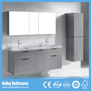 High Gloss Finished Luxury Bathroom Vanity with 5 Drawers and Side Cabinet (BF361D)