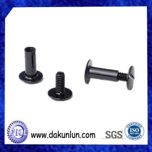 Factory Supply Customized Black Nickel Plated Aluminum Chicago Screw pictures & photos