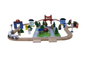 80PCS Wooden Train Set Toy for Kids and Children pictures & photos