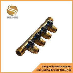 Brass 4 Way Underfloor Heating Manifold pictures & photos